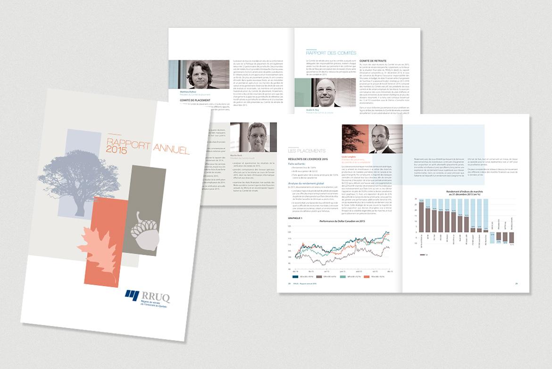 Rapport annuel du RRUQ 2015 produit et conçu par Laro design et illustration