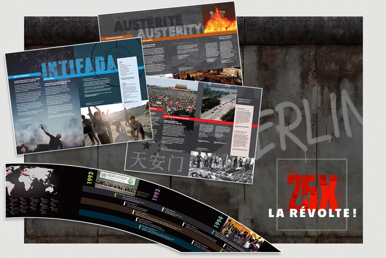 Exposition 25 x la révolte du Musée de la civilisation 2016